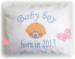 almofada com ano nascimento