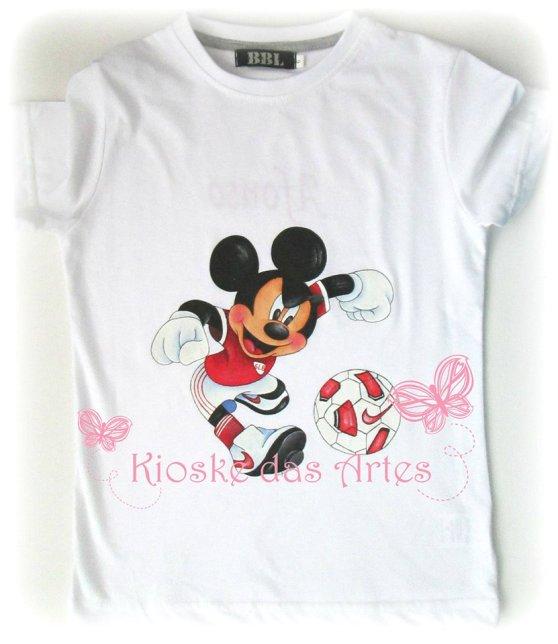 t-shirt pintada à mão